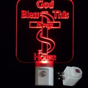 Personalized Christian Cross LED Ni..