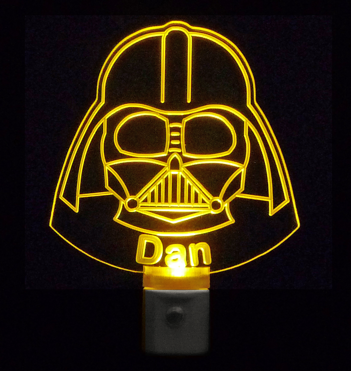 Star Wars Darth Vader, Colored LED Personalized and Customized with name By Unique LED Products-FREE Shipping to US-