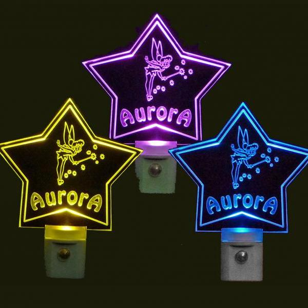 Personalized Star Shaped Fairy LED Night Light